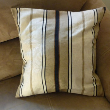 Brown striped pillow cover 18 in.