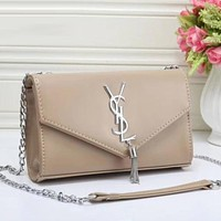 YSL Women Fashion Leather Chain Satchel Shoulder Bag Crossbody