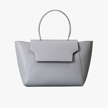 Structured Medium Leather Handbag