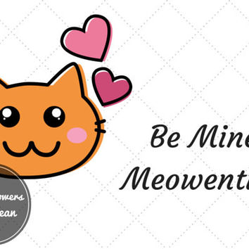 Funny Cat Card, Valentine's day card, valentines Cat card valentines card for him Card for Her