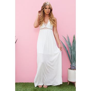 Back On Top Maxi Dress (Ivory)