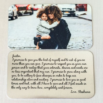 Personalized Wallet Insert Card - Custom Note Gift for Men and Women - Anniversary Gift Your Own Image Handwriting  Personalized Gift Spouse