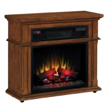 Shop Duraflame 33-in W 5,200-BTU Vintage Mahogany Wood Infrared Quartz Electric Fireplace with Thermostat and Remote Control at Lowe's