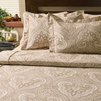 Wheeling Paramount Wheat Corded Comforter Set  With 2 Flanged Shams Made in the USA by Brite Ideas Living