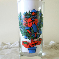 Indiana Glass Company 12 Days of Christmas Replacement Glass, American Glass 12 Drummers Drumming, 12 Days of Christmas 12th Day Tumbler