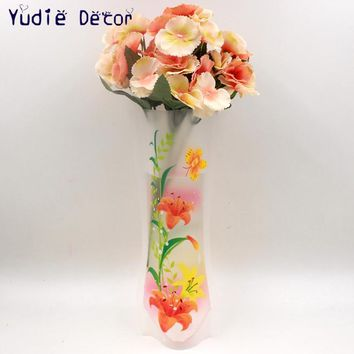 New Contracted rural style bags of environmental protection plastic vases for balcony sitting room bedroom flowers supply