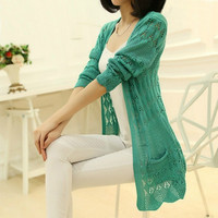 Sweaters 2014 women fashion Summer Cardigan heart Long Sleeve Sweater femininas Cardigans women's coats cheap = 1920334596