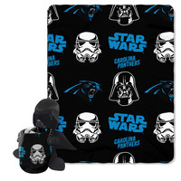 Carolina Panthers NFL Star Wars Darth Vader Hugger & Fleece Blanket Throw Set
