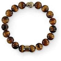 Gold Gods Buddha Tiger Eye Gemstone Bracelet