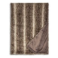 Hudson Park Textured Faux Fur Throw - 100% Exclusive | Bloomingdales's