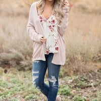 Dane Knit Cardigan (Blush)