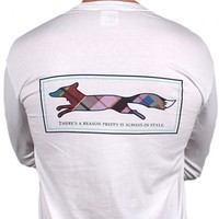 Longshanks Long Sleeve Tee Shirt in White by Country Club Prep
