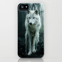 Wolf iPhone Case by Julie Hoddinott | Society6
