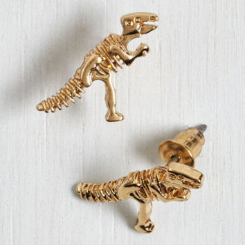 Nifty Nerd Better, Fossil, Stronger Earrings by ModCloth
