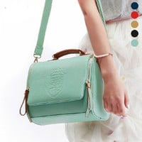 Korean England Style Crown Stylish Fashion One Shoulder Vintage Messenger Bags [6583134983]