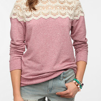 Urban Outfitters - Kimchi Blue Sweetie Pie Lace Pullover Sweatshirt