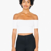 Cotton Spandex Off-Shoulder Top | American Apparel