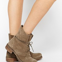 Ravel Lace Tie Suede Ankle Boots