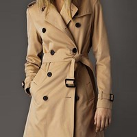 OASAP - Army Style Double Breasted Trench Coat with Belted Waist - Street Fashion Store
