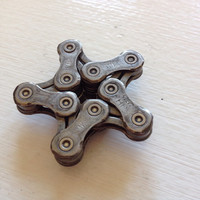 UPCYCLED Bicycle Chain STAR 1 Magnet - Enjoy the Ride
