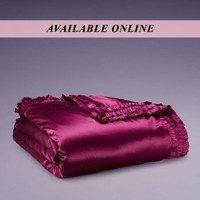Home for Christmas by Agent Provocateur - Ruffle Silk King Duvet Cover