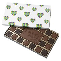 Happy Mardi Gras Logo 45 Piece Box Of Chocolates