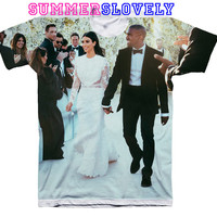Kanye West and Kim Kardashian Wedding Shirt Women T-shirt Men Tank Top