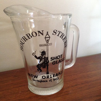 Bourbon Street Shot Glass pitcher. New Orleans themed parties here we come! Birthplace of jazz