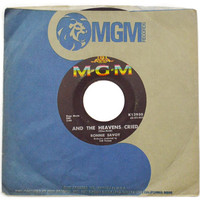 Vintage 60s Ronnie Savoy And the Heavens Cried 45 RPM Single Record Vinyl