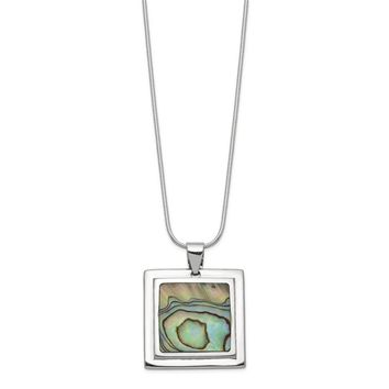 925 Sterling Silver Abalone Pendant Necklace