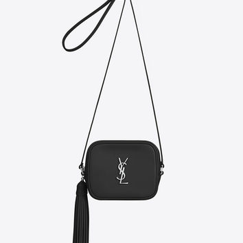 SAINT LAURENT MONOGRAM SAINT LAURENT BLOGGER BAG IN BLACK LEATHER | YSL.COM