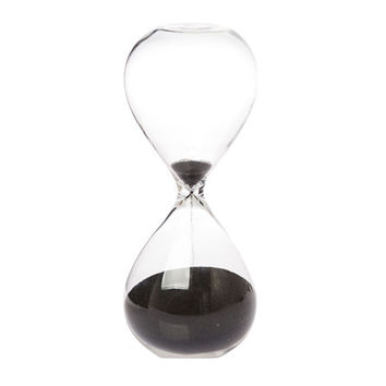 black hourglass / two sizes