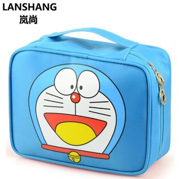 Hello Kitty Woman Cosmetic Bag Character Waterproof Professional Wash Necessaire Travel Toiletry Organizer Make up Bag CQ137