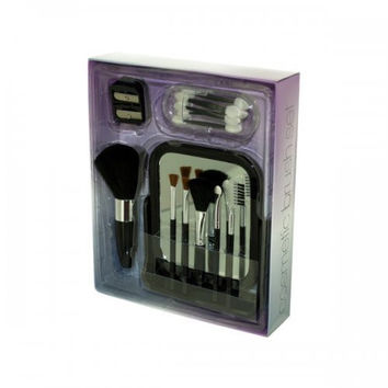 Cosmetic Brush Set With Vanity Mirror (pack of 2)