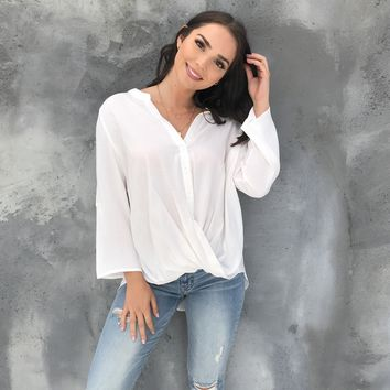 Care Free Ivory Blouse