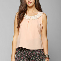 Coincidence & Chance Crochet-Collar Sleeveless Blouse - Urban Outfitters
