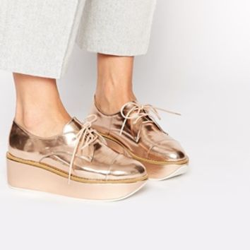 ALDO Quirta Rose Gold Flatform Shoes at from ASOS  298d2fdf3