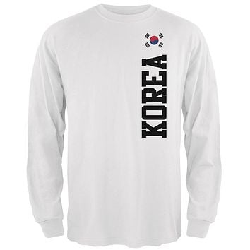 World Cup Korea Mens Long Sleeve T Shirt