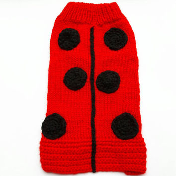 Yorkshire Sweaters Ladybird Sweaters  Small Dog Sweaters Dog Coat