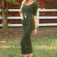Hadley Dress - Olive