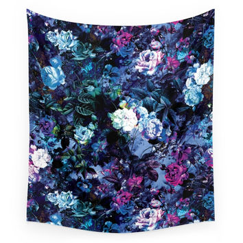 Society6 RPE FLORAL X Wall Tapestry