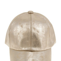 Miss Thang Metallic Vegan Leather Hat