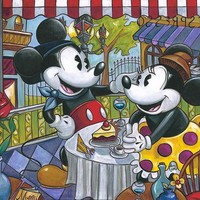 Amy Lynn Cafe Mickey [Amy Lynn_A275] - $99.00 oil painting for sale|Wonderful artwork|Buy it at once.