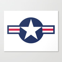US Air force Roundel insignia Stretched Canvas by Bruce Stanfield