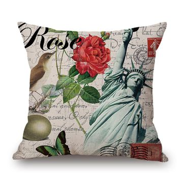 Rectangle decorative throw pillow covers knitted pillowcase velvet covers