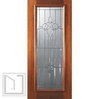 Slab House Single Door 80 Wood Mahogany Arlington Full Lite Glass