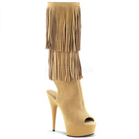 Fringed  Knee High Stripper Boots
