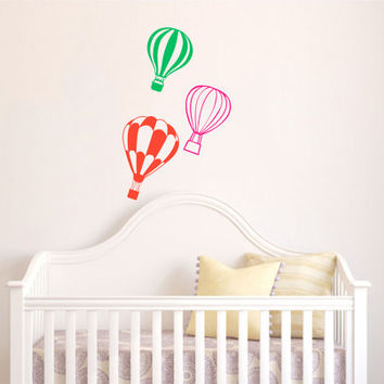 Housewares Hot air Balloons Wall Vinyl Decal Sticker Kids Nursery Baby Room Decor V291
