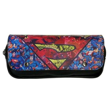 Fashion Casual Leather Purse Cartoon Anime Superman Captain America Batman Ironman Wallets Hero Deadpool Pen Pencil Bags Wallet