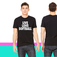 Live Love Softball_ unisex t-shirt